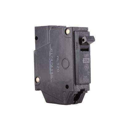 GE Q-Line® THQL1120 Molded Case Circuit Breaker, 120/240 VAC, 20 A, 10 KA Interrupt, 1 Poles, LI/Non-InterchanGEable Thermal Magnetic Trip