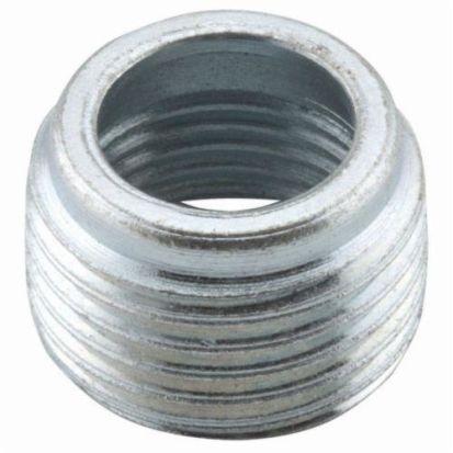 Hubbell RACO® 1142 Threaded Reducing Bushing, 3/4 X 3/8 In Trade, Steel, Electro-Plated Zinc