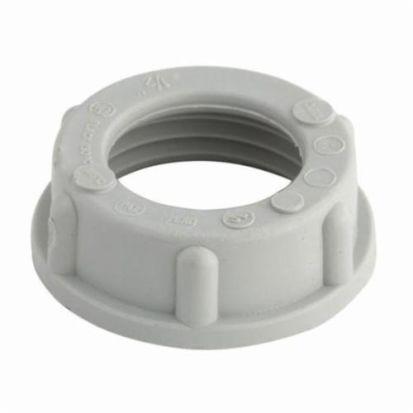 Hubbell RACO® 1403 Conduit Bushing, 3/4 In Trade, Polypropylene, Electro-Plated Zinc