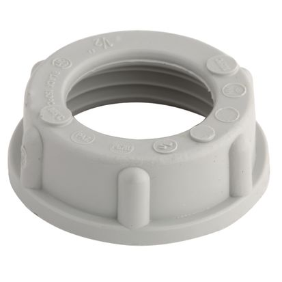 Hubbell RACO® 1404 Conduit Bushing, 1 In Trade, Polypropylene, Electro-Plated Zinc