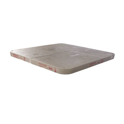 Hubbell QUAZITE® PG3660HA0009 Type PG Stackable Cover, 62-3/8 in L x 38-3/8 in W x 3 in D, Polymer Concrete