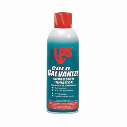ITW Pro Brands LPS® 00516 COLD GALVANIZE Heat Resistant Corrosion Inhibitor, 16 oz Spray Can, Liquid, Opaque/Light Gray, 1.76 at 25 deg C