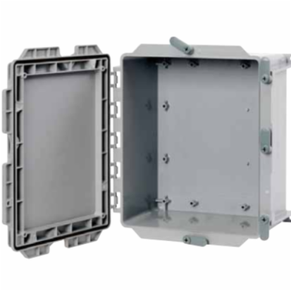KRALOY® 278304 JBX664 6x6x4 Junction Box W/Gasket And Integral Cover Fasteners NEMA 4/4x