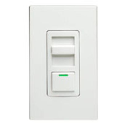 Leviton® Decora® IllumaTech® IPI10-1LZ 3-Way Electro-Mechanical Dimmer Switch, 120 VAC, 1 Poles, Standard On/Off Operation, Ivory/Light Almond/White