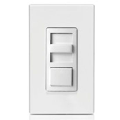 Leviton® Decora® IP710-LFZ 3-Way Electro-Mechanical Electronic Dimmer Switch, 120/277 VAC, 1 Poles, Standard On/Off Operation, Ivory/Light Almond/White
