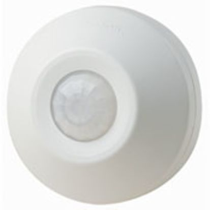 Leviton® ODC0S-I1W Self Contained Occupancy Sensor, 120 VAC, PIR Sensor, 530 sq-ft Coverage, 360 deg Viewing, Ceiling Mount
