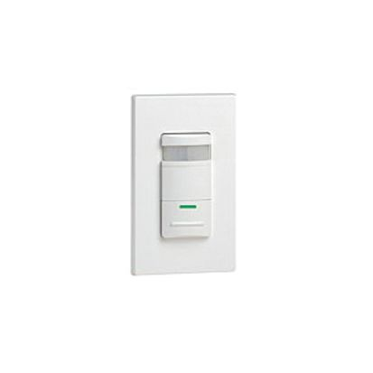 Leviton® Decora® ODS10-IDI 1-Pole Occupancy Sensor, PIR Sensor, 2100 ft Coverage, 180 deg Viewing, Wall Mount