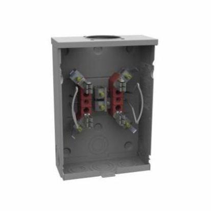 Milbank® U7487-RL-TG-KK 1-Position Meter Socket, 600 VAC, 125 A, 1 Phase, NEMA 3R Enclosure
