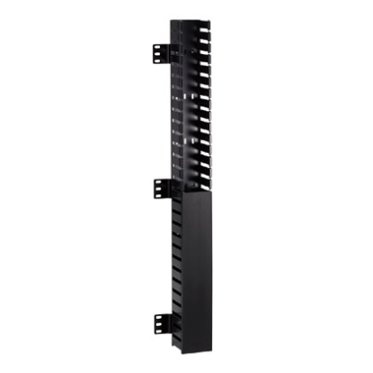 Panduit® CWMPV2340 Front Only In-Cabinet Single Sided Vertical Cable Manager, 70 in H x 2.3 in W x 3 in D, PVC, Black