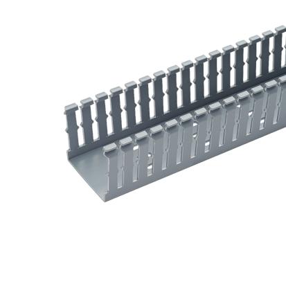 Panduit® F1.5X3LG6 Type F Narrow Slot Wall Wiring Duct, 0.2 in, 1-3/4 in W x 3 in D, Lead-Free PVC