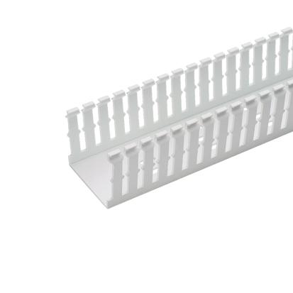 Panduit® F1.5X4WH6 Type F Narrow Slot Wall Wiring Duct, 0.2 in, 1-3/4 in W x 4 in D, Lead-Free PVC