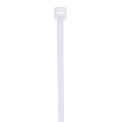 Panduit® Pan-Ty® PLT1M-C Miniature Cable Tie, 3.9 In L X 0.1 In W X 0.04 In Thk, Nylon 6.6