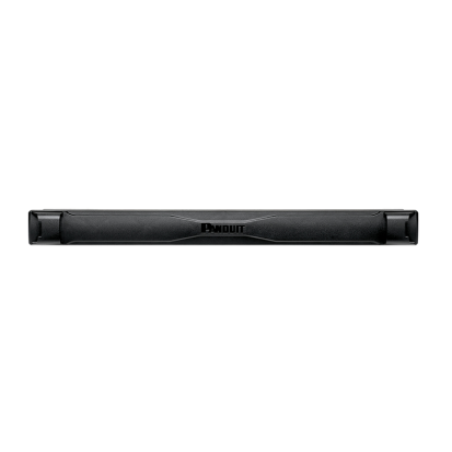 Panduit® TLBP1R-V Round Hole Tool Less Blanking Panel, 1.76 in H x 19 in W x 2 in D, ABS, Black