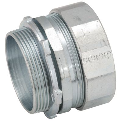 Hubbell RACO® 1144 Threaded Reducing Bushing, 1 X 3/4 In Trade, Steel, Electro-Plated Zinc