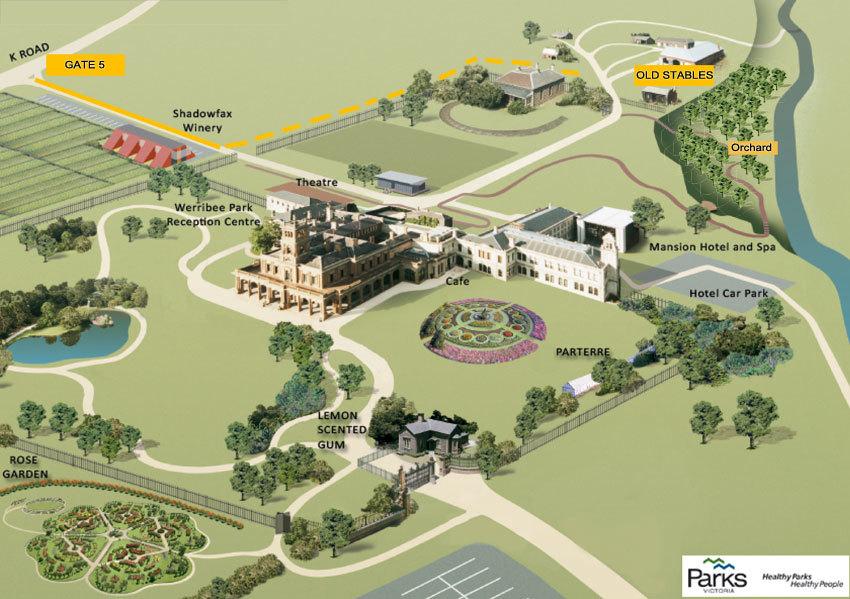 Map Werribee Park Heritage Orchard
