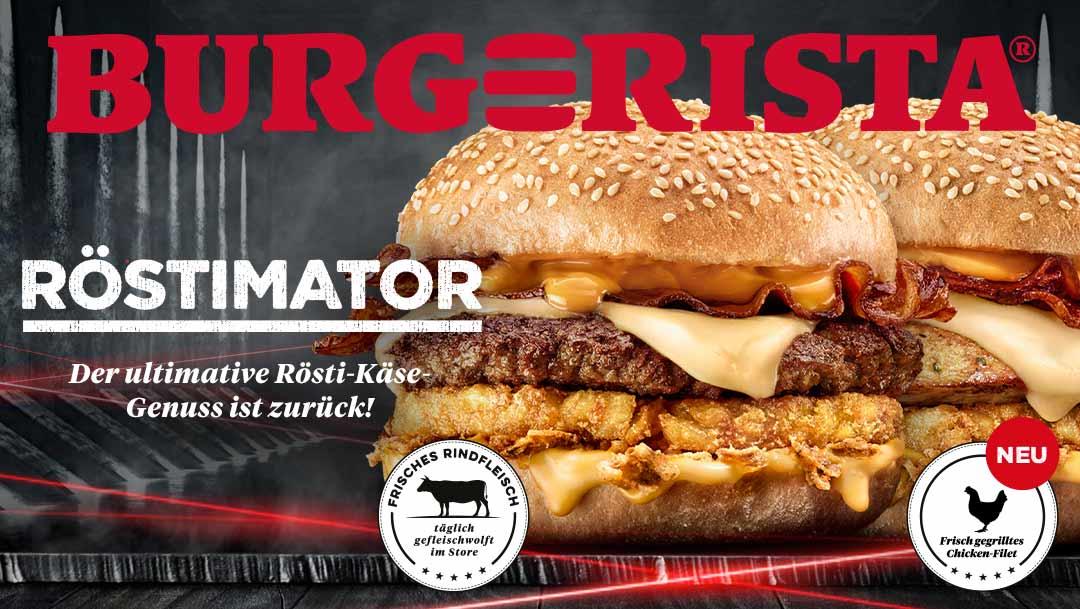 BURGERISTA Geschmacks-Blockbuster ist retour.