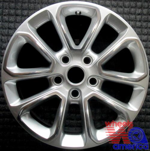 2014 jeep grand cherokee oem factory 1vh40dd5ab polished silver wheel rim 9136 ebay. Black Bedroom Furniture Sets. Home Design Ideas