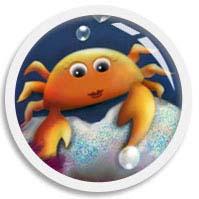 Onscroll triggered animated thumb of an orange crab illustration by We~Ivy aka Shillmynara