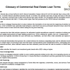 Glossary of Commercial Real Estate Loan Terms - Sean Aguilar