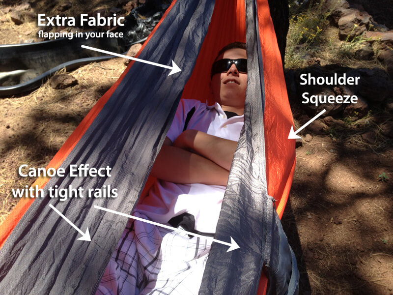 Sleeping in your hammock all wrong - Hammock Too Tight