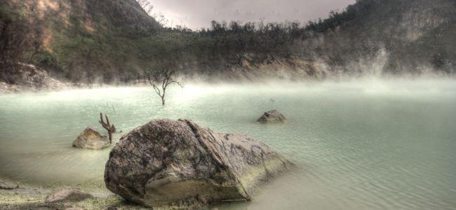 Вулкан Kawah Putih на острове Ява
