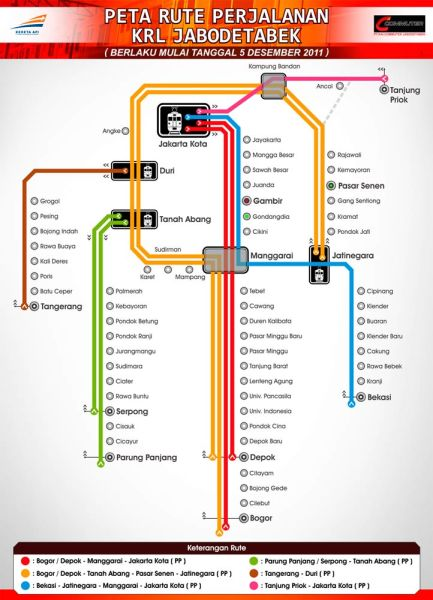 map metro train of jakarta