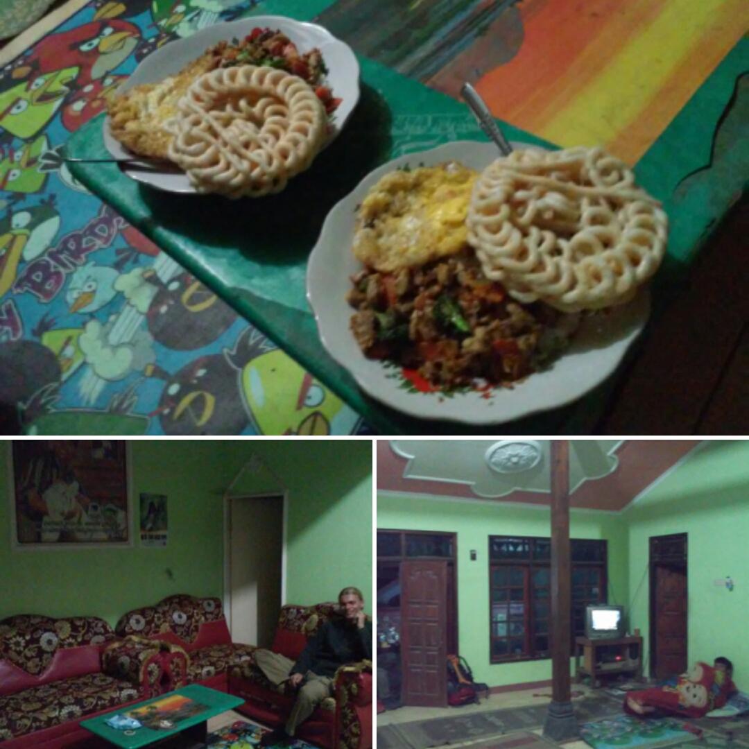 Деревенский дом и наш ужин у вулкана