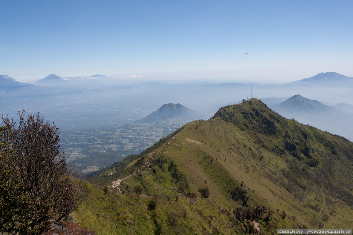 Панорама системы вулкана Мербабу