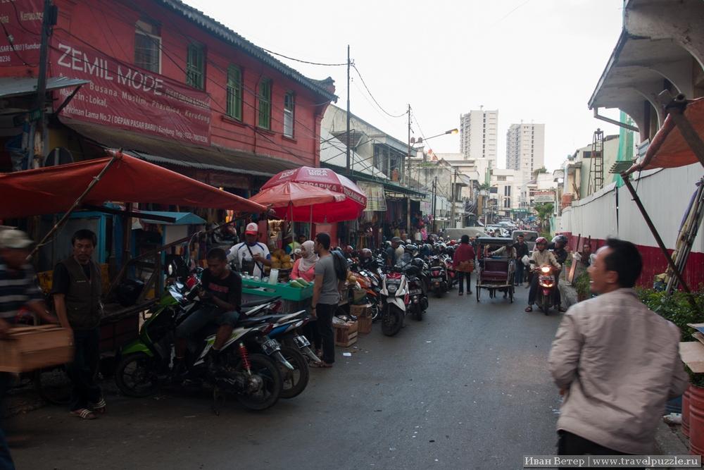 Торговля захватила целый район города