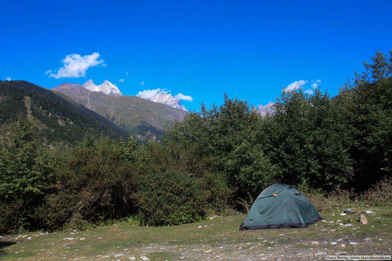 Палатки в Местиа