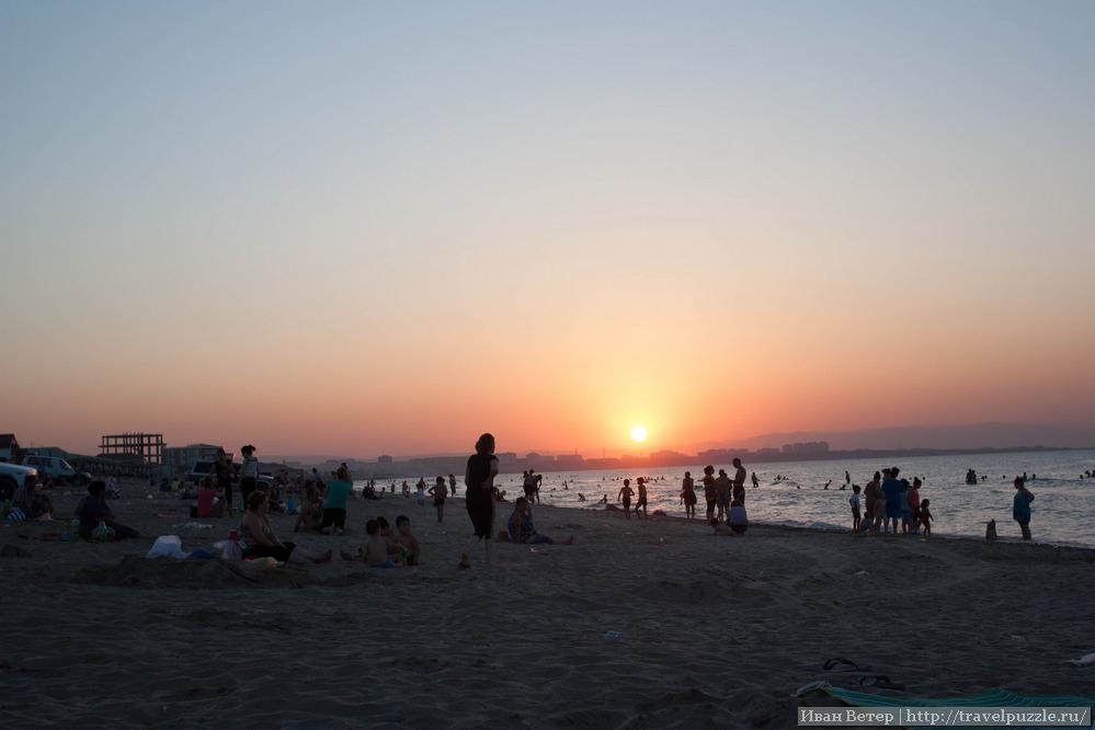 Закат с видом на Сумгаит