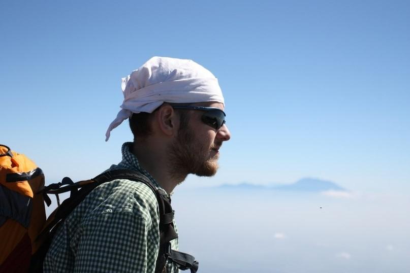 На вершине вулкана Мербабу
