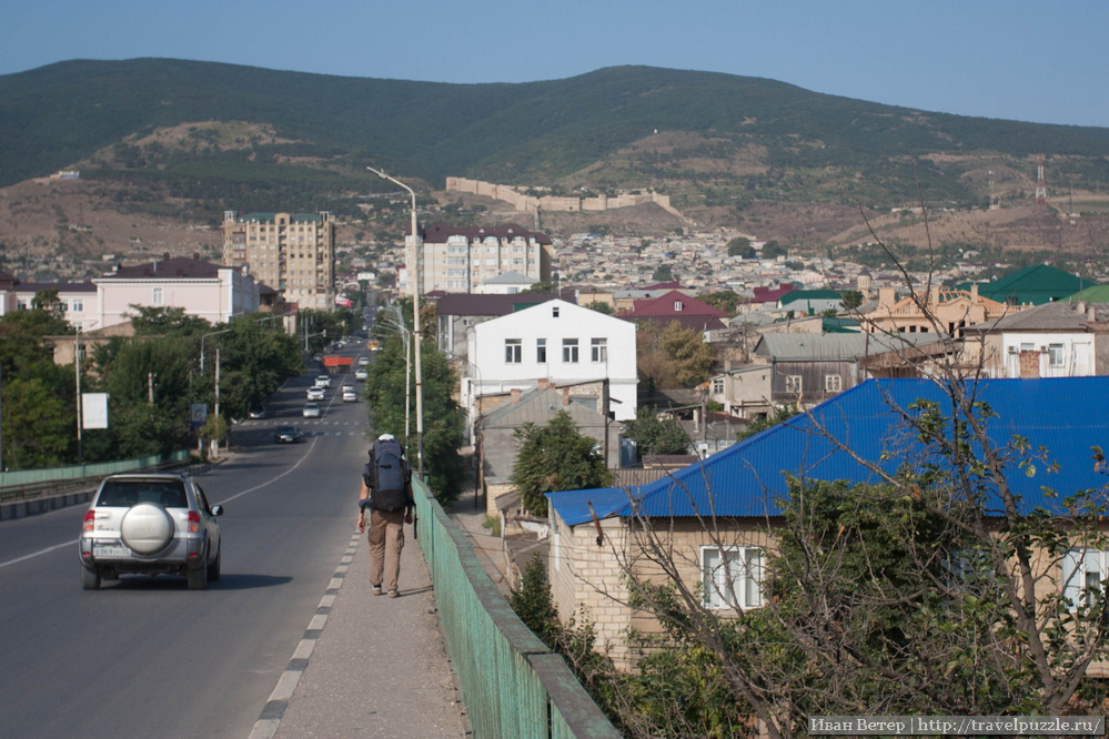 Вид на Дербент и крепость Нарын-кала