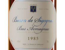 BARON DE SIGOGNAC ARMAGNAC MILLÉSIMÉ 1985 70 CL