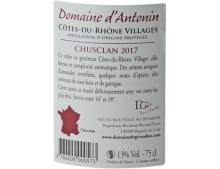 CÔTES DU RHÔNE VILLAGES CHUSCLAN ROUGE 2017 - DOMAINE D'ANTONIN