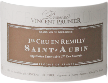 SAINT-AUBIN PREMIER CRU EN REMILLY BLANC 2015 - DOMAINE VINCENT PRUNIER