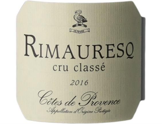 CÔTES DE PROVENCE RIMAURESQ CRU CLASSÉ ROUGE 2016 - DOMAINE DE RIMAURESQ