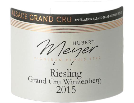 HUBERT MEYER ALSACE GRAND CRU WINZENBERG RIESLING BLANC 2015