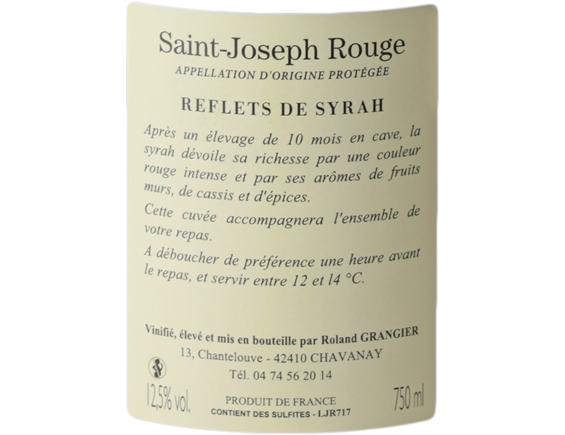 SAINT-JOSEPH REFLETS DE SYRAH ROUGE 2018 - DOMAINE ROLAND GRANGIER