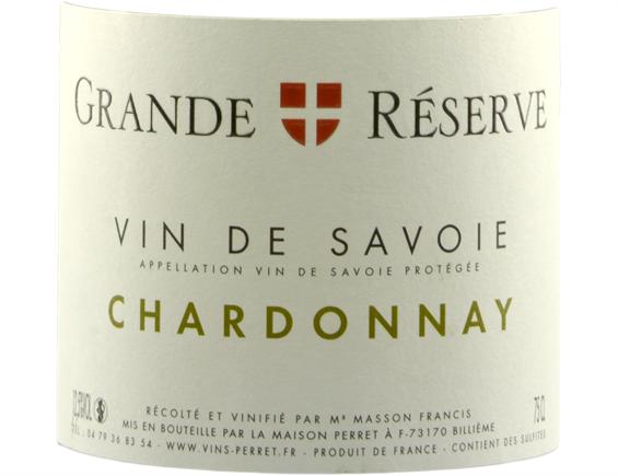 VIN DE SAVOIE GRANDE RÉSERVE CHARDONNAY BLANC 2018 - MAISON PERRET