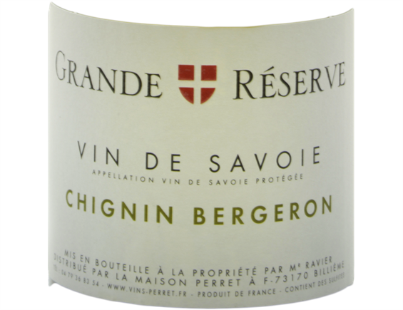 VIN DE SAVOIE GRANDE RÉSERVE CHIGNIN BERGERON BLANC 2018 - MAISON PERRET