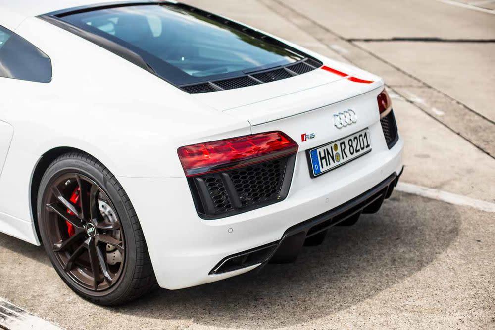 Audi R8 Coupé V10 RWS, Heck
