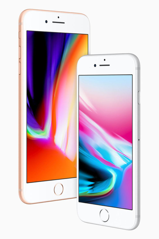 Phone 8 und 8 Plus ähneln optisch den Vorgänger-Modellen. Sie sind das Update der iPhones der 7. Generation.