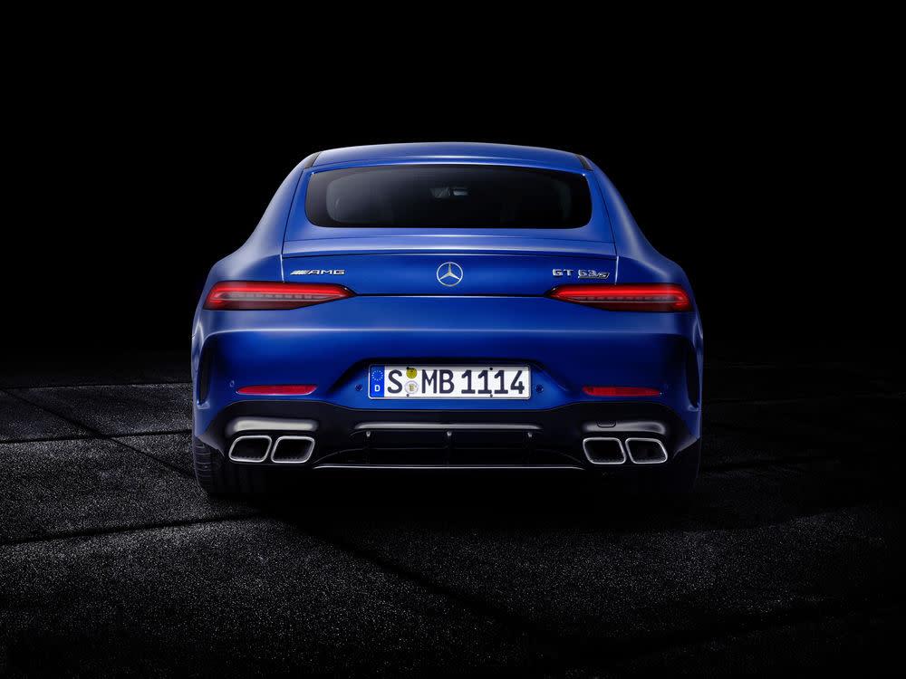 Der neue Mercedes-AMG GT 63 S: Heckansicht
