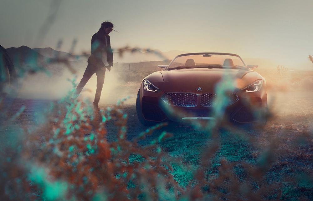 Für die BMW-typische Doppelniere hat man sich beim Concept Z4 für eine tiefe, breite Variante entschieden.