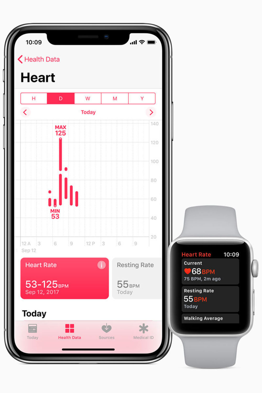 Ein Update gibt es auch für WatchOS. Das neue System kommt mit einer aktualisierten Herzfrequenz App, die Ruhepuls und Erholungsphasen bei Trainings, beim Gehen und während Atemübungen misst.