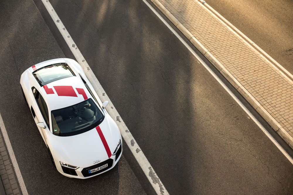Audi R8 Coupé V10 RWS, Draufsicht