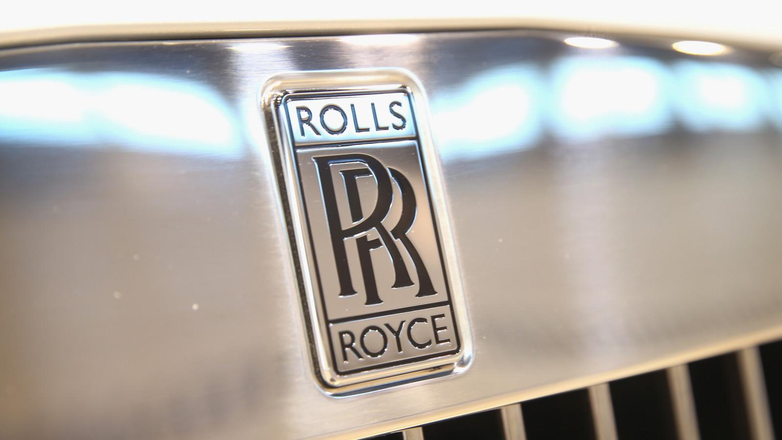 Altes Rolls-Royce Logo Motorhaube