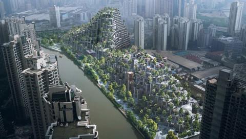 In Shanghai soll ein bewohnbarer Berg entstehen