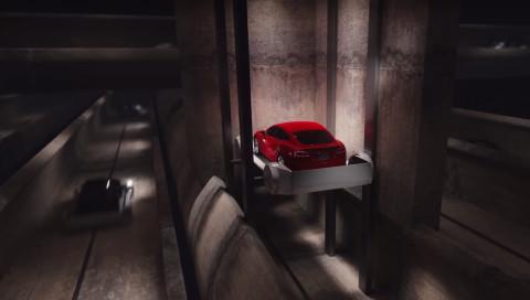 Elon Musk testet den ersten Tunnelschlitten der Boring Company